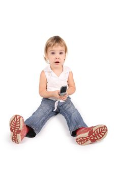Free Girl With Cell Phone Stock Photography - 3907562
