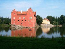 The Castle Cervena Lhota Stock Images