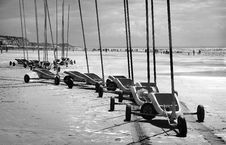 Land Sand Yachts Royalty Free Stock Photos