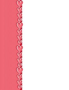 Free Pink Valentine S Day Hearts Border Stock Photography - 3909292