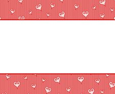 Free Valentine S Day Hearts Border Background Stock Photography - 3909432