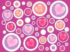 Free Abstract Hearts In Circles Pattern Stock Images - 3909574