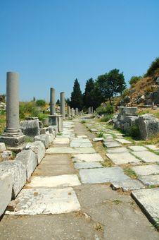Free Roman Ruins At Ephesus In Turkey Royalty Free Stock Photography - 3909617