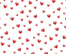 Free Small Decorative Red Hearts Pattern Background Stock Photography - 3909752