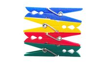 Free Stack Of Colorful Clips Stock Photos - 3909773
