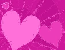 Purple Decorative Valentine S Day Background Royalty Free Stock Image