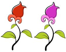 Free Red And Purple Spring Flowers Clip Art Stock Photo - 3909790