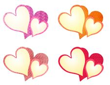 Free Colorful Textured Valentine Hearts Clip Art Royalty Free Stock Images - 3909859