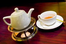 Free Teapot And Cup Of Tea Stock Photography - 3909892