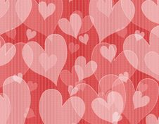 Free Textured Opaque Hearts Background Royalty Free Stock Photo - 3909895