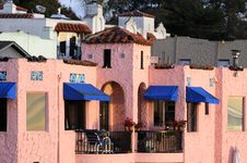 Colorful Home On The Esplanade In Capitola Stock Photos