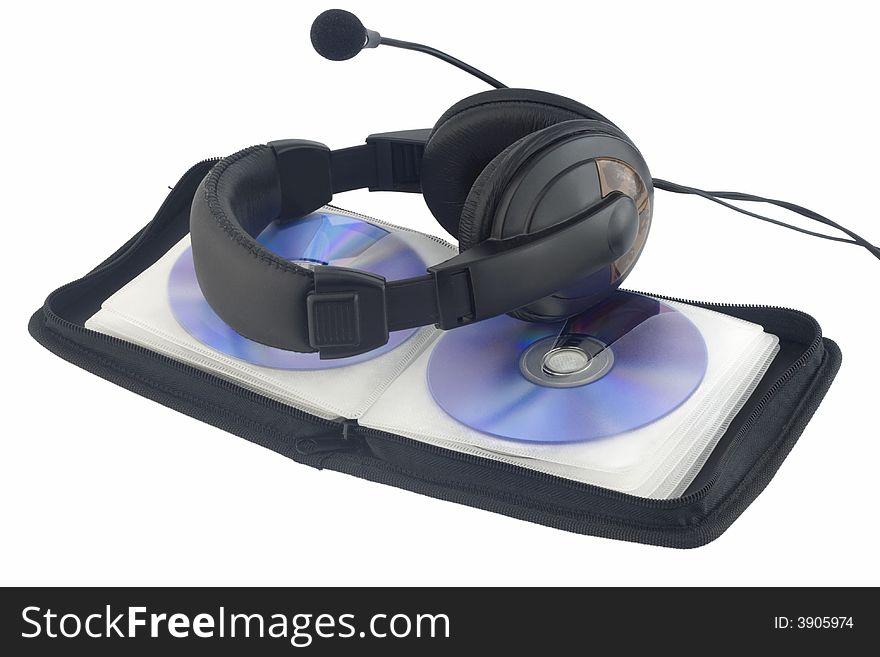 Earphone at CD case