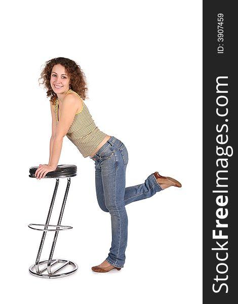 Cannot Girl on bar stool