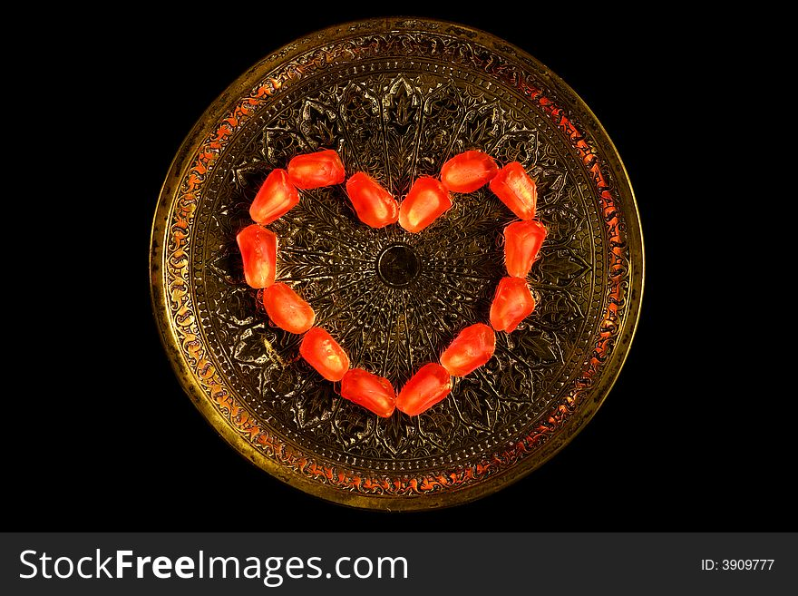 Small salver and heart 2