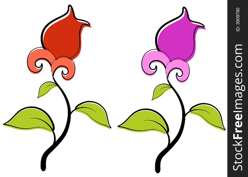 Red And Purple Spring Flowers Clip Art Free Stock Images Photos