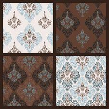 Damask Pattern. Set Stock Images