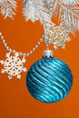Free Blue Festive Decoration Stock Image - 3919381