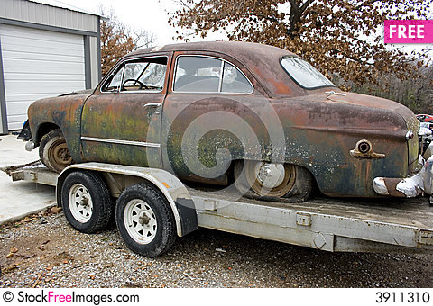 Free 1949 Ford Sedan Side View Stock Photo - 3911310