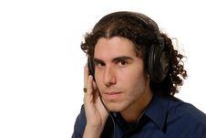Free Headphone Guy Stock Photos - 3910473