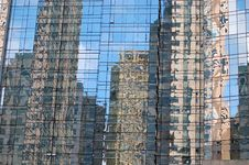 Skyscrapers Reflected Royalty Free Stock Images