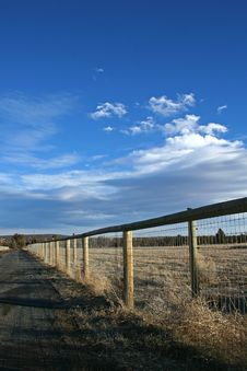 Free Country Fence Royalty Free Stock Photography - 3911077