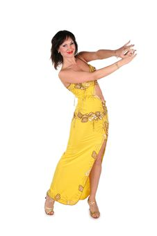 Free Bellydance Woman In Yellow Stock Photos - 3911093