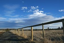 Free Country Fence Royalty Free Stock Images - 3911129