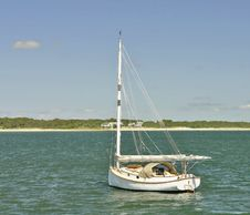 Free Sailboat Mored In The Bay Stock Image - 3913751