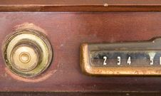 Free Old Television Dial Royalty Free Stock Photos - 3913758