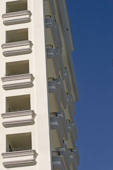 Free Balconies On Corner Royalty Free Stock Photo - 3913765