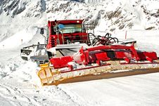 Snowplow On Work Royalty Free Stock Images