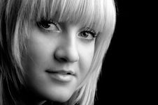 Free Closeup Portrait Of A Beatiful Blond Girl Royalty Free Stock Photography - 3913937