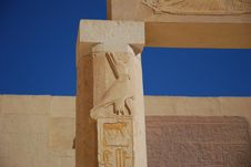 Free Relief (Horus) On A Column Stock Photo - 3914150