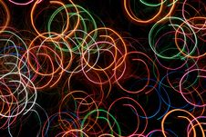Free Abstract Circular Light Tracks Stock Image - 3914471
