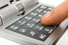 Free Hand And Calculator Stock Image - 3914641