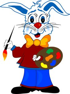 Free Rabbit- Painter Royalty Free Stock Photos - 3914778