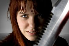 Free Young Knife Killer Royalty Free Stock Images - 3915159