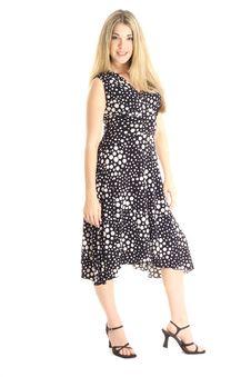 Fashion Model In Polka Dot Dress Stock Photography