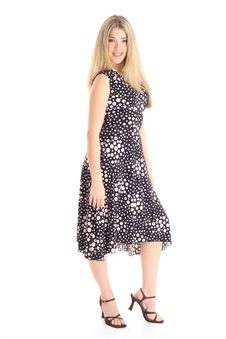 Beautiful Blonde In Polka Dot Dress Vertical Stock Images