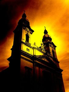 Free Red Church Royalty Free Stock Image - 3915546