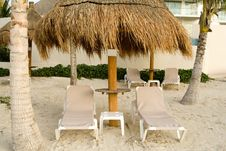 Free Mexican Resort With Beach Chairs Stock Photos - 3915993