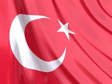 Free Glossy Flag Of Turkey Stock Photo - 3916940