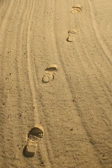 Free Footsteps Royalty Free Stock Photos - 3916958