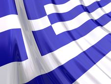 Free Glossy Flag Of Greece Royalty Free Stock Image - 3917136