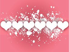 Free Pink Hearts Valentines Day Card Royalty Free Stock Photo - 3917145