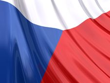 Free Glossy Flag Of Czech Republic Stock Images - 3917174