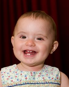 Free A Cute Smiling Baby Girl Royalty Free Stock Images - 3917209