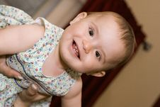Free Smiling Cute Baby Girl Royalty Free Stock Image - 3917226