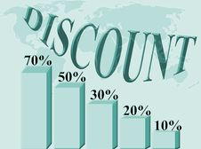 Free Discount Percentage Royalty Free Stock Image - 3917806