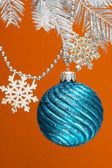 Free Blue Festive Decoration Stock Image - 3919381